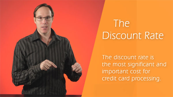 What is a discount rate in the credit card processing industry?
